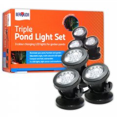 Bermuda Triple Pond Light Set