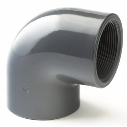 PVC-U Class E Plain Threaded Elbow 90º 3/4""