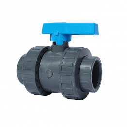 PVC-U Double Union Ball Valve 3/4 inch