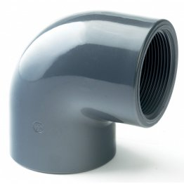 PVC-U Class E Plain threaded Elbow 90º 25mm